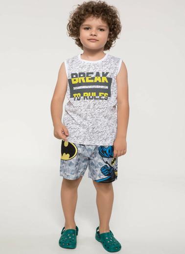 DeFacto Lisanslı Batman Yüzme Şortu Gri